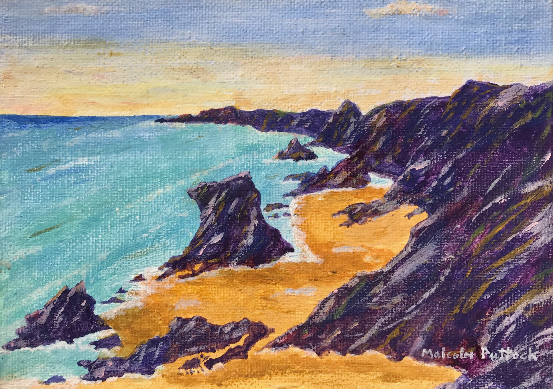 Sea, sand and cliffs