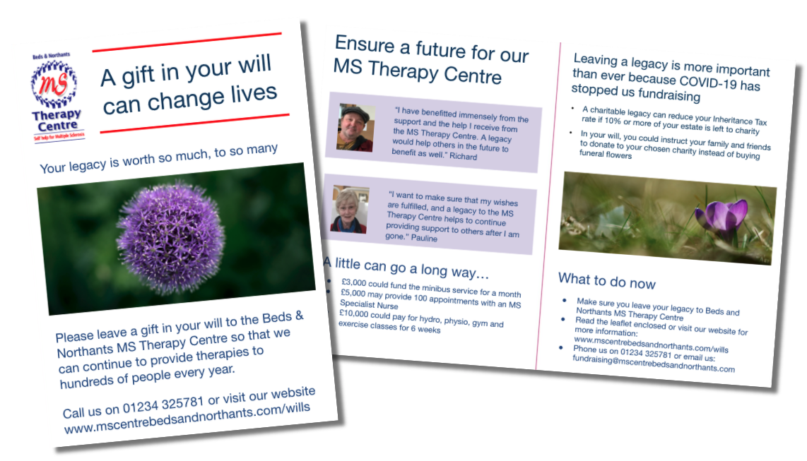 MS Therapy Centre legacy leaflet